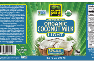 LIGHT UNSWEETENED ORGANIC COCONUT MILK