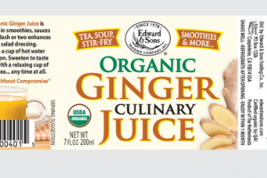 ORGANIC CULINARY GINGER JUICE