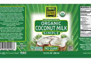 SIMPLE UNSWEETENED ORGANIC COCONUT MILK