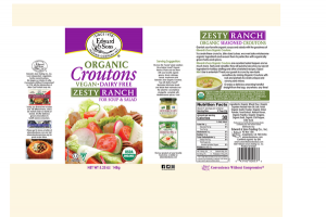 ZESTY RANCH CROUTONS VEGAN DAIRY FREE FOR SOUP & SALAD