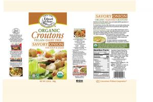 SAVORY ONION ORGANIC CROUTONS FOR SOUP & SALAD