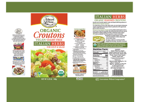 ITALIAN HERBS ORGANIC CROUTONS FOR SOUP & SALAD