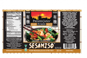 ORGANIC SESAMISO ASIAN FUSION SAUCE FOR NOODLES & STIR FRY