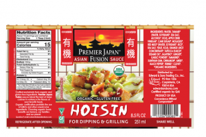 ORGANIC HOISIN ASIAN FUSION SAUCE FOR DIPPING & GRILLING
