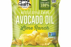 LIME RANCH AVOCADO OIL KETTLE STYLE CHIPS