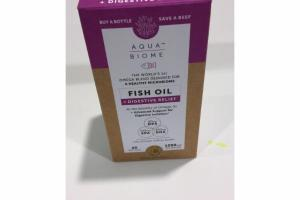 HINT OF LEMON FLAVOR FISH OIL + DIGESTIVE RELIEF DIETARY SUPPLEMENT SOFTGELS
