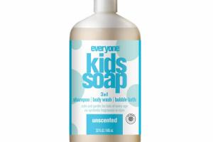 UNSCENTED 3IN1 KIDS SOAP, SHAMPOO, BODY WASH, BUBBLE BATH