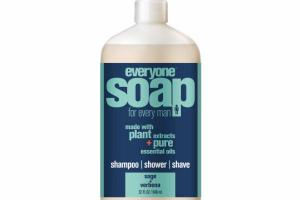 3 IN ONE SHAMPOO, SHOWER, SHAVE SOAP, SAGE + VERBENA