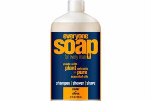 SHAMPOO, SHOWER, SHAVE, SOAP FOR EVERY MAN, CEDAR + CITRUS