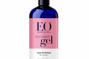 SHOWER GEL, ROSE & LEMON