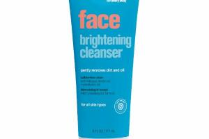FACE BRIGHTENING CLEANSER GENTLY REMOVES DIRT AND OIL FOR ALL SKIN TYPES