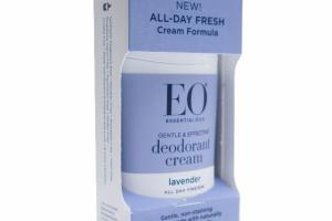 GENTLE & EFFECTIVE DEODORANT CREAM, LAVENDER