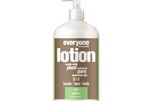 3 IN 1 HANDS, FACE, BODY LOTION, MINT + COCONUT