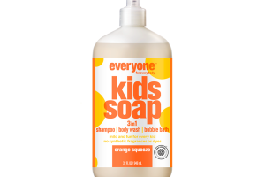 3 IN 1 SHAMPOO, BODY WASH, BUBBLE BATH KIDS SOAP, ORANGE SQUEEZE