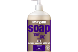 3 IN 1 SHAMPOO BODY WASH BUBBLE BATH SOAP, LAVENDER + ALOE