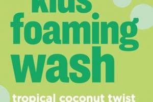 2 IN 1 SHAMPOO + BODY WASH KIDS FOAMING WASH, TROPICAL COCONUT TWIST