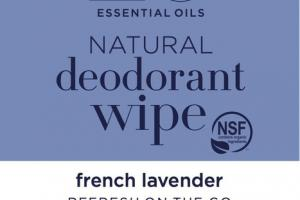 NATURAL DEODORANT WIPE, FRENCH LAVENDER