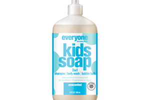 3 IN 1 SHAMPOO, BODY WASH, BUBBLE BATH KIDS SOAP, UNSCENTED