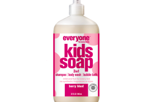 3 IN 1 SHAMPOO BODY WASH BUBBLE BATH KIDS SOAP, BERRY BLAST