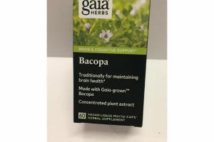 BACOPA BRAIN & COGNITIVE SUPPORT VEGAN LIQUID PHYTO-CAPS HERBAL SUPPLEMENT