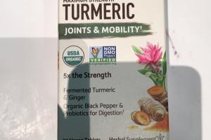 Maximum Strength Turmeric Herbal Supplement