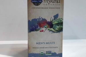 MEN'S WHOLE FOOD MULTIVITAMIN DIETARY SUPPLEMENT VEGAN TABLETS