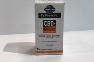 CBD TURMERIC WHOLE HEMP EXTRACT +50MG CURCUMINOIDS DIETARY SUPPLEMENT