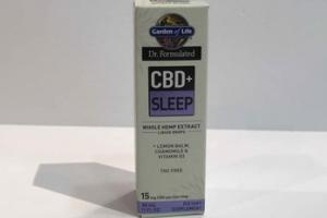 CBD+ SLEEP WHOLE HEMP EXTRACTS LIQUID DROPS + LEMON BALM, CHAMOMILE & VITAMIN D3 DIETARY SUPPLEMENT