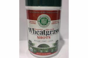 ORGANIC AND RAW WHEAT GRASS SHOTS JUICE POWDER
