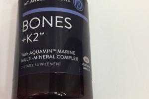 Bones + K2 With Aquamin Marine Multi-mineral Complex Dietary Supplement