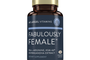 FABULOUSLY FEMALE WITH L-ARGININE AND KSM-66 ASHWAGANDHA EXTRACT DIETARY SUPPLEMENT VEGETARIAN CAPSULES