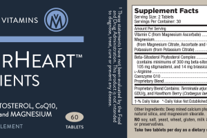 NUTRIENTS WITH BETA-SITOSTEROL, COQ10, L-ARGININE AND MAGNESIUM DIETARY SUPPLEMENT TABLETS