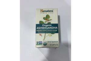 ORGANIC ASHWAGANDHA HERBAL SUPPLEMENT CAPLETS