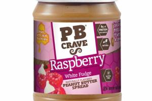 RASPBERRY WHITE FUDGE PEANUT BUTTER SPREAD