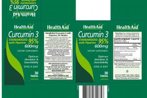 Curcumin 3 Standardized With Piperine 95% Dietary Supplement