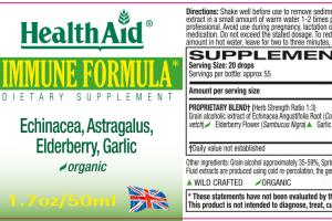 Organic Immune Formula Dietary Supplement