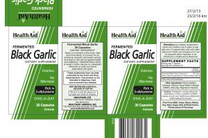 Fermented Black Garlic One-a-day Dietary Supplement Capsules