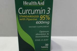 CURCUMIN 3 95% STANDARDIZED WITH PIPERINE DIETARY SUPPLEMENT TABLETS