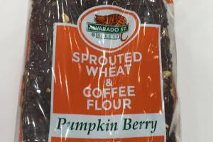 Sprouted Wheat & Coffee Flour Pumpkin Berry Bread