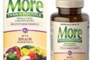 More Than A Multiple Whole Food Concentrates Multivitamin Formula With Brain Essentials Dietary Supplement Tablets