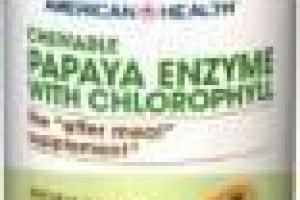 Chewable Papaya Enzyme With Chlorophyll Dietary Supplement