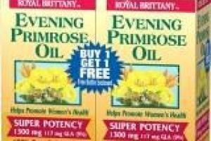 Evening Primrose Oil Softgels Dietary Supplement