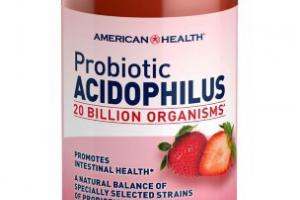 Natural Strawberry Probiotic Acidophilus Dietary Supplement