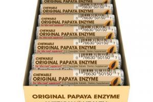 Chewable Original Papaya Enzyme Dietary Supplement