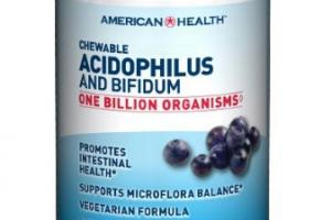 Chewable Acidophilus And Bifidum Wafers Dietary Supplement
