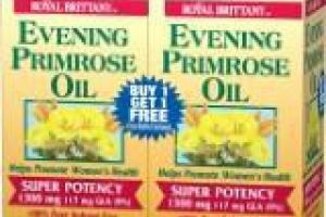 Evening Primrose Oil Super Potency 1300 Mg 117 Mg Gla (9%) Softgels Dietary Supplement