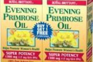 Evening Primrose Oil Super Potency 1300 Mg 117 Mg Gla (9%) Softgels Dietary Supplement