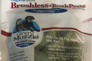 Brushless-toothpaste For Senior Dogs