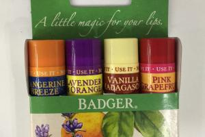 Lip Balm Sticks, Tangerine Breeze, Lavender & Orange, Vanilla Madagascar, Pink Grapefruit