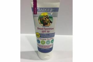 BROAD SPECTRUM SPF 30 NATURAL MINERAL SUNSCREEN CREAM, UNSCENTED
